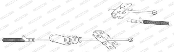 Cable de frein à main FERODO FHB432800 (X1)