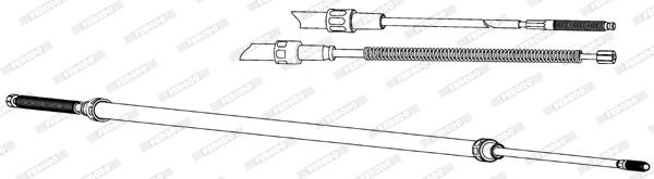 Cable de frein à main FERODO FHB432841 (X1)
