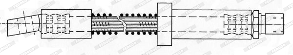 Flexible de frein FERODO FHY2586 (X1)