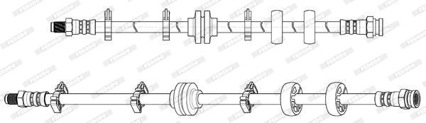 Flexible de frein FERODO FHY2770 (X1)