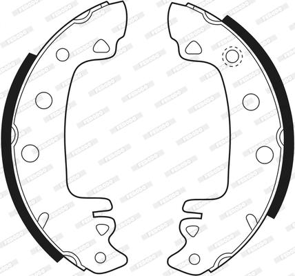 kit de frein arrière simple ou prémonté FERODO FSB29 (Jeu de 4)