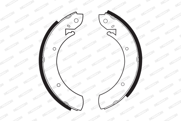 kit de frein arrière simple ou prémonté FERODO FSB361 (Jeu de 4)