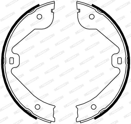 Jeu de mâchoires de frein de frein à main FERODO FSB4000 (Jeu de 4)