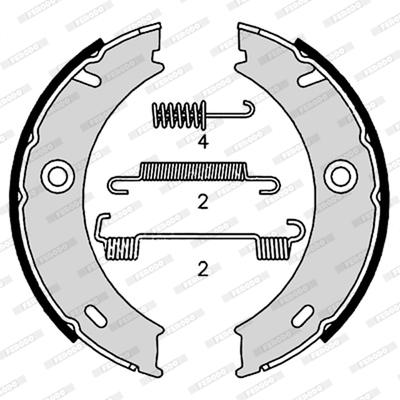 Jeu de mâchoires de frein de frein à main FERODO FSB4190 (Jeu de 4)