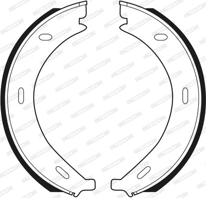 Jeu de mâchoires de frein de frein à main FERODO FSB536 (Jeu de 4)
