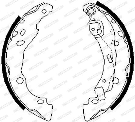 kit de frein arrière simple ou prémonté FERODO FSB642 (Jeu de 4)