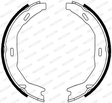 Jeu de mâchoires de frein de frein à main FERODO FSB690 (Jeu de 4)