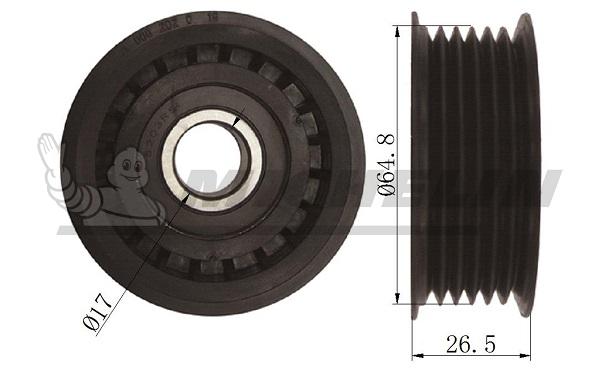 Galet enrouleur accessoires MICHELIN EngineParts SMAMP01009 (X1)