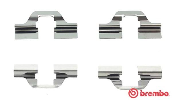 Kit de montage plaquettes de frein BREMBO A 02 205 (X1)