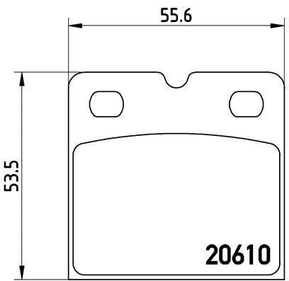 Kit de plaquettes de frein de stationnement BREMBO P 02 001 (Jeu de 4)