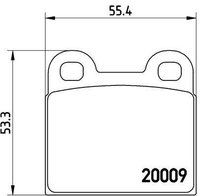 Plaquettes de frein BREMBO P 06 001 (Jeu de 4)
