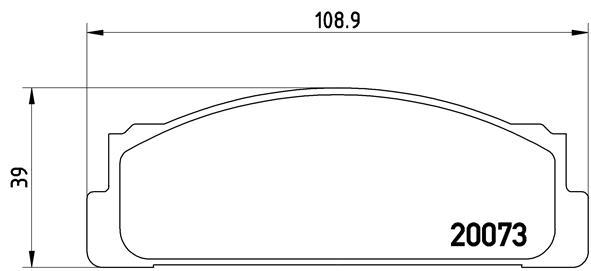 Plaquettes de frein avant BREMBO P 23 003 (Jeu de 4)