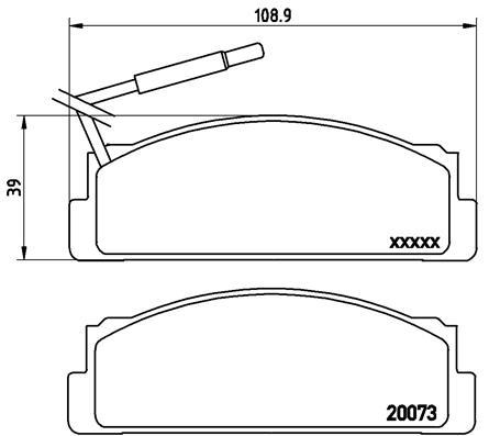 Plaquettes de frein avant BREMBO P 23 005 (Jeu de 4)