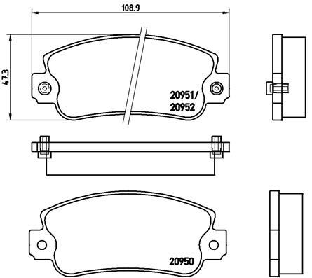 Plaquettes de frein avant BREMBO P 23 013 (Jeu de 4)