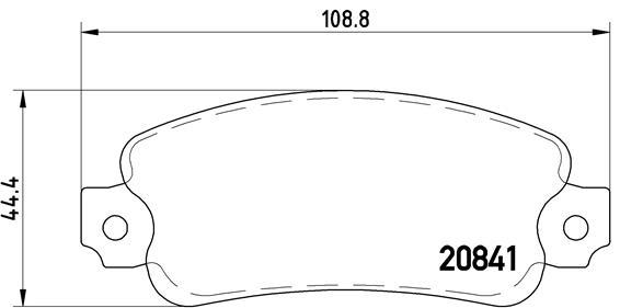 Plaquettes de frein arriere BREMBO P 23 014 (Jeu de 4)