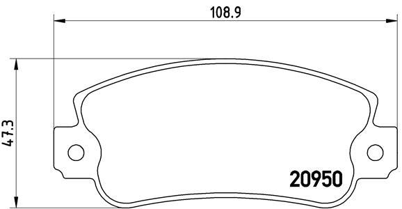 Plaquettes de frein avant BREMBO P 23 021 (Jeu de 4)