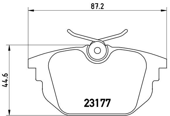 Plaquettes de frein arriere BREMBO P 23 026 (Jeu de 4)