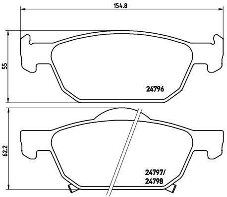 Plaquettes de frein avant BREMBO P 28 044X (Jeu de 4)