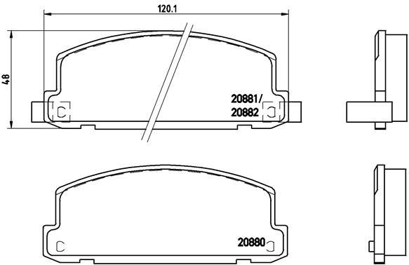 Plaquettes de frein avant BREMBO P 34 002 (Jeu de 4)