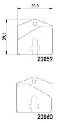 Kit de plaquettes de frein de stationnement BREMBO P 36 004 (Jeu de 4)