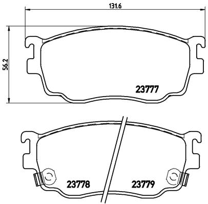 Plaquettes de frein avant BREMBO P 49 026 (Jeu de 4)