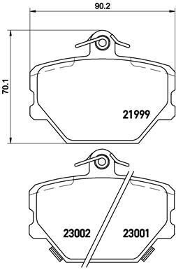 Plaquettes de frein avant BREMBO P 50 038 (Jeu de 4)
