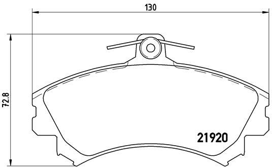 Plaquettes de frein avant BREMBO P 50 055 (Jeu de 4)