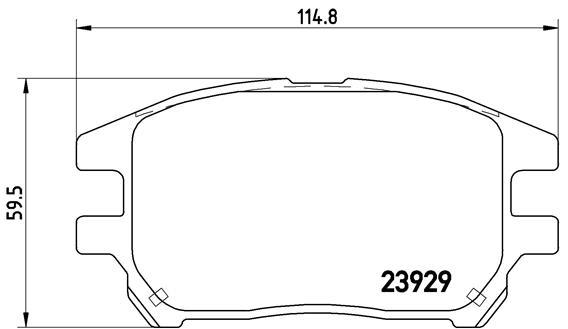 Plaquettes de frein avant BREMBO P 56 050 (Jeu de 4)