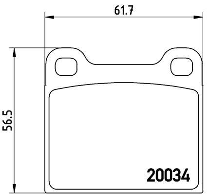 Plaquettes de frein BREMBO P 59 001 (Jeu de 4)