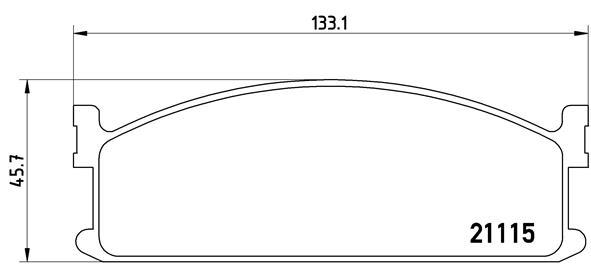 Plaquettes de frein avant BREMBO P 59 008 (Jeu de 4)