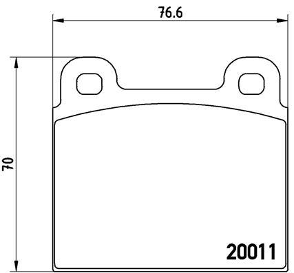 Plaquettes de frein BREMBO P 65 001 (Jeu de 4)