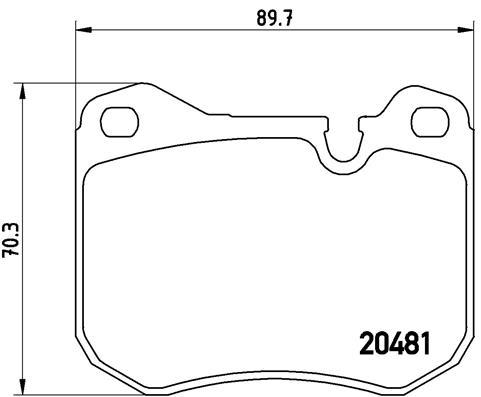Plaquettes de frein avant BREMBO P 65 002 (Jeu de 4)