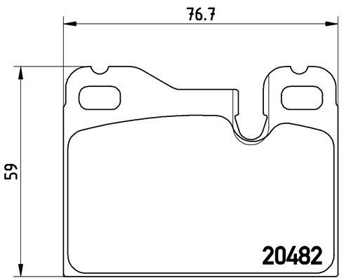 Plaquettes de frein BREMBO P 65 003 (Jeu de 4)