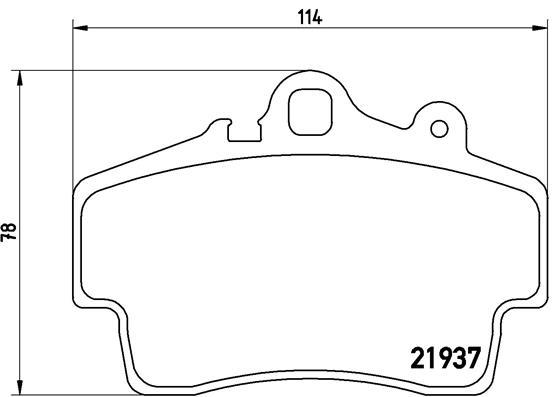 Plaquettes de frein avant BREMBO P 65 007 (Jeu de 4)