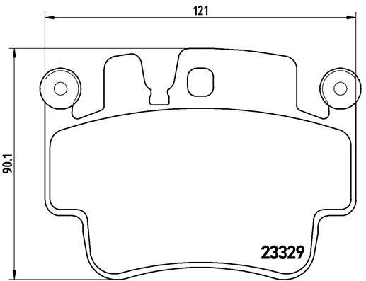 Plaquettes de frein BREMBO P 65 009 (Jeu de 4)