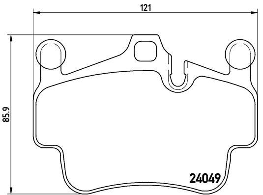 Plaquettes de frein avant BREMBO P 65 015 (Jeu de 4)