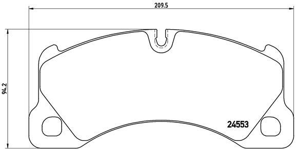 Plaquettes de frein avant BREMBO P 65 017 (Jeu de 4)