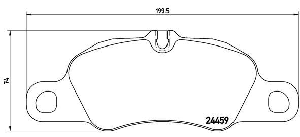 Plaquettes de frein avant BREMBO P 65 019 (Jeu de 4)