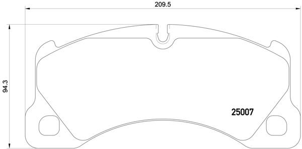 Plaquettes de frein avant BREMBO P 65 021 (Jeu de 4)