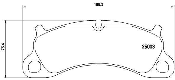 Plaquettes de frein avant BREMBO P 65 025 (Jeu de 4)