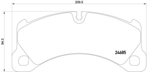 Plaquettes de frein avant BREMBO P 65 026 (Jeu de 4)