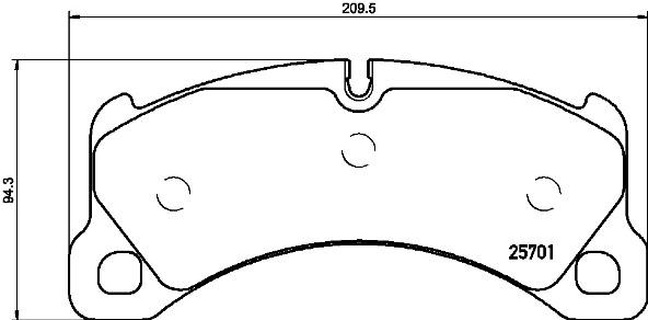 Plaquettes de frein avant BREMBO P 65 033 (Jeu de 4)