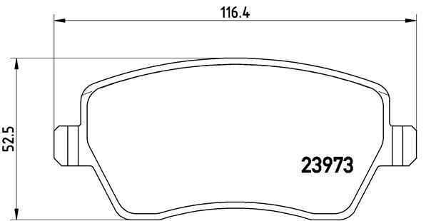 Plaquettes de frein BREMBO P 68 033X (Jeu de 4)