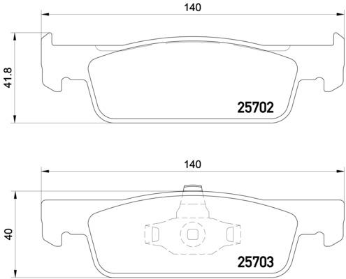 Plaquettes de frein avant BREMBO P 68 059 (Jeu de 4)