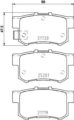 Plaquettes de frein BREMBO P 79 027 (Jeu de 4)