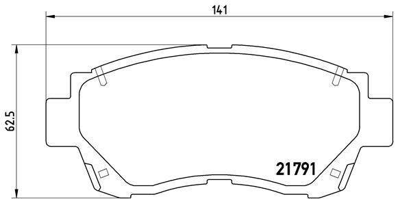 Plaquettes de frein avant BREMBO P 83 027 (Jeu de 4)