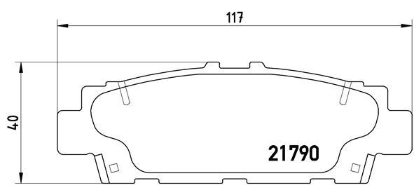 Kit de plaquettes de frein, frein à disque BREMBO P 83 032 (Jeu de 4)