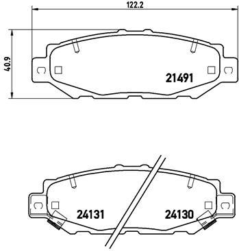 Kit de plaquettes de frein, frein à disque BREMBO P 83 038 (Jeu de 4)