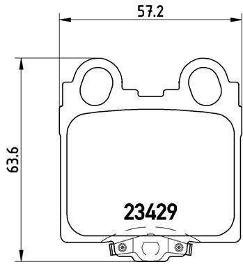 Kit de plaquettes de frein, frein à disque BREMBO P 83 045 (Jeu de 4)