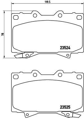 Plaquettes de frein avant BREMBO P 83 048 (Jeu de 4)
